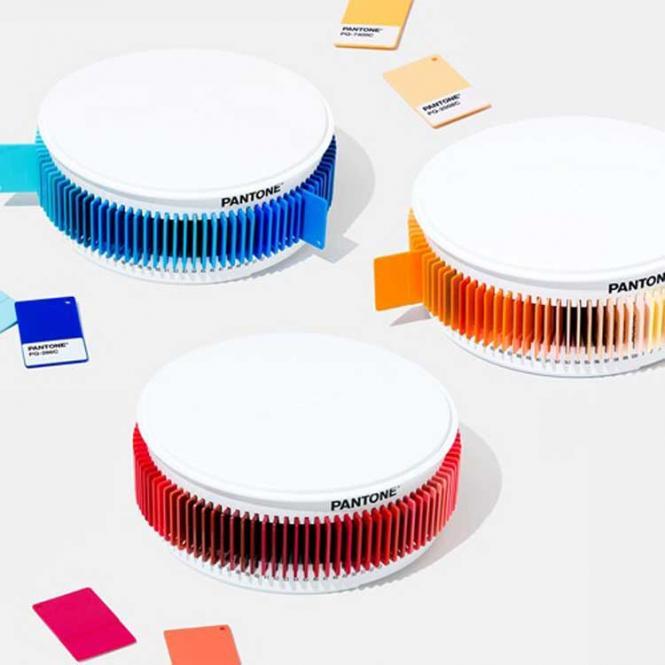 PANTONE Blue Plastic Chip Color Set
