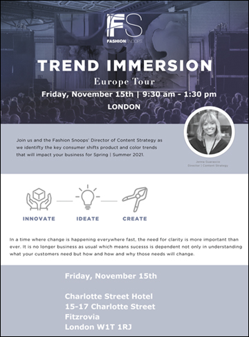 Fashionsnoops Trend Immersion London