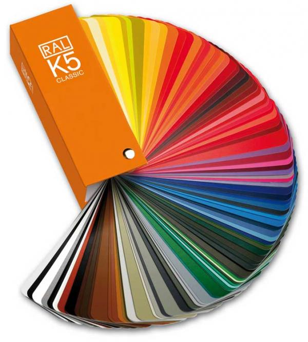 RAL K5 Colour fan deck with 213 RAL CLASSIC colours - Semi matt