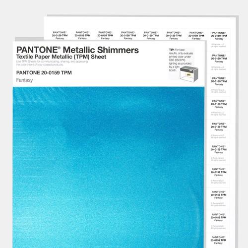 PANTONE Metallic Shimmers TPM Sheet