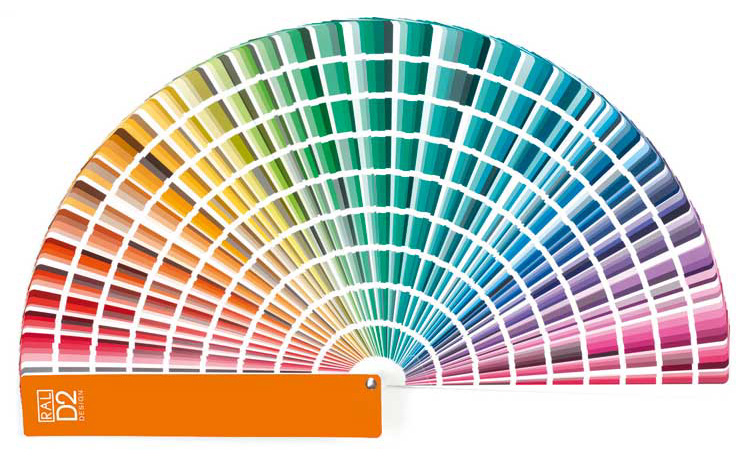 Ral D2 Colour Fan Deck With 1 825 Ral Design System Plus Colours In Mode Information Gmbh