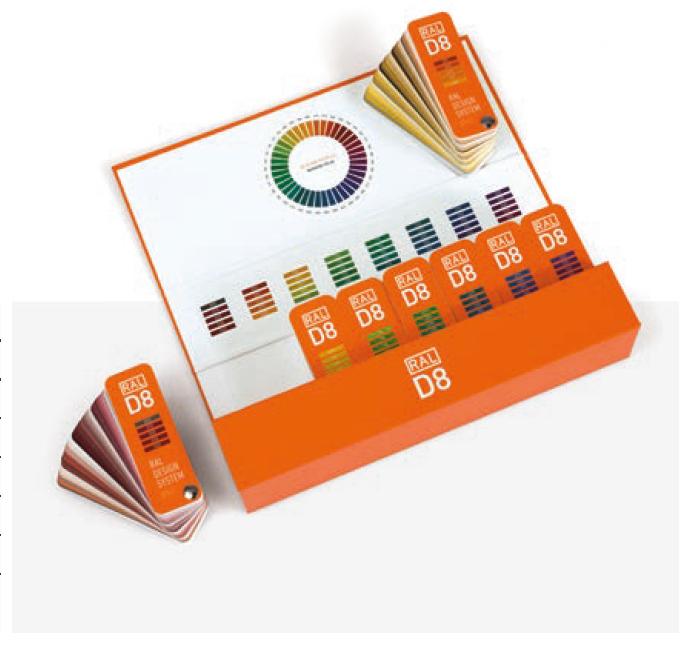 RAL D8 Design Box With 8 Colour Fan Decks
